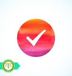 Watercolor Check Mark vector