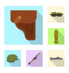 Weapon and gun logo set of vector