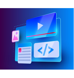 web site ui element web development concept vector image