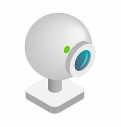 Webcam 3d isometric icon vector