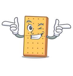 Wink graham cookies character cartoon vector