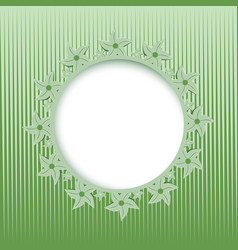 lace round frame vector image