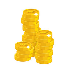 stack gold chinese yuan or japanese yen isolated vector image vector image
