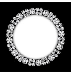 Abstract Luxury Black Diamond Background vector image