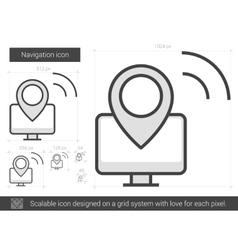 Navigation line icon vector image