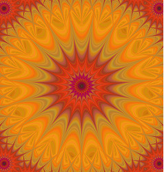 Orange and red abstract mandala fractal background vector