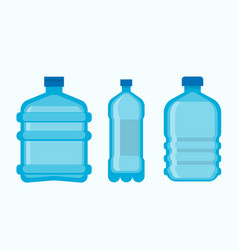 plastic bottles with clean fresh mineral water set vector image vector image
