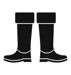 Rubber boots icon simple style vector