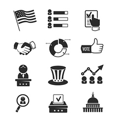 Voting and elections icon set vector image vector image