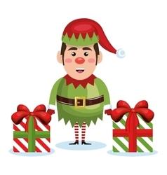 elf christmas character icon vector image