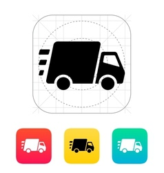 Fast delivery truck icon vector