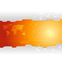 Hi-tech wallpaper template vector image vector image