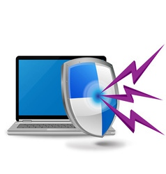 laptop computer security vector image