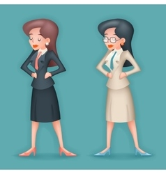 Realistic 3d Vintage Businesswoman Character Icon vector image vector image