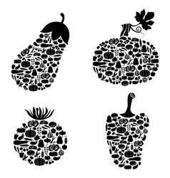 vegetables on vegetables vector image