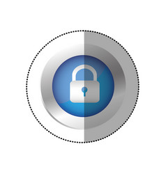 blue symbol lock icon vector image