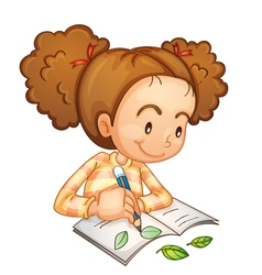 Girl studying vector image vector image