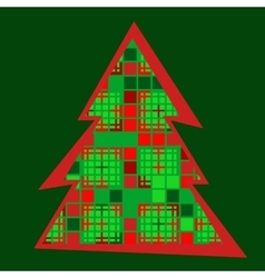 Modern christmas tree icon vector