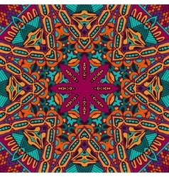 Abstract colorful mandala ethnic pattern vector