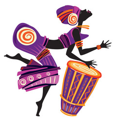 Afro women dancing vector