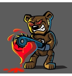 angry bear toy vector image