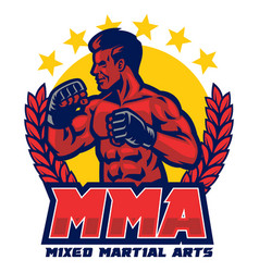 badge design mma vector image
