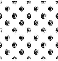 big easter egg pattern vector image