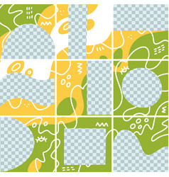 big trendy editable puzzle template for social vector image