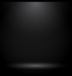 black studio room with lighting effects and vector image