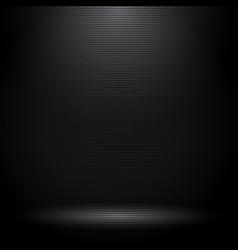 Black studio room with lighting effects vector