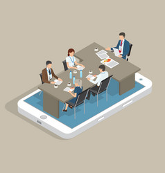 boss and office workers isometric flat 3d vector image