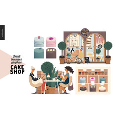Cake shop - small business graphics - set vector