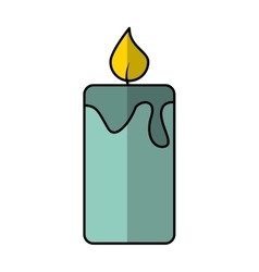 Candle aroma therapy icon vector