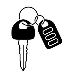 Car key with automobile smart keys flat icon vector