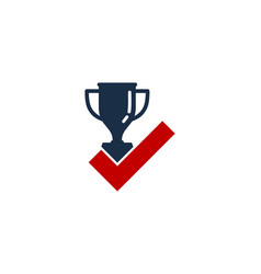check trophy logo icon design vector image