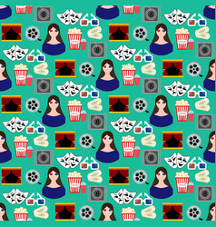Cinema seamless pattern vector