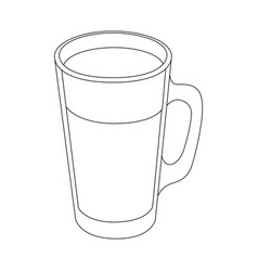 Cold drink of chocolate vector