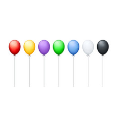 colorful balloons in a row vector image