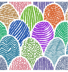 colorful doodle drawing seamless background vector image