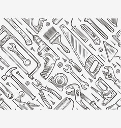 construction tools seamless background repair vector image