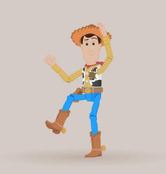 cowboy woody vector image