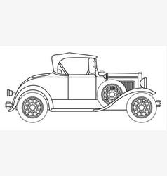 Early motor car outline vector