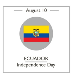 Ecuador Independence Day vector image