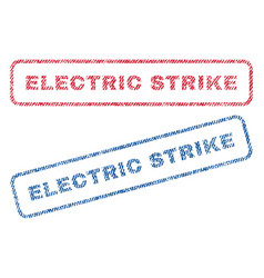 Electric strike textile stamps vector