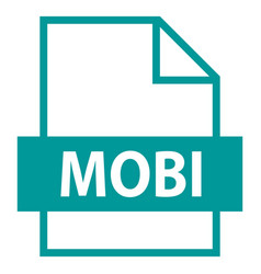 File name extension mobi type vector