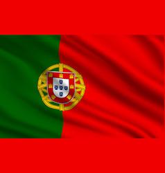 flag portuguese republic realistic vector image