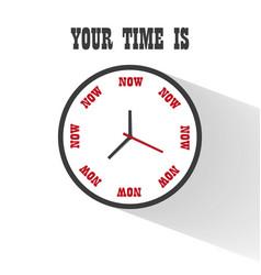 Flat clock icon element vector