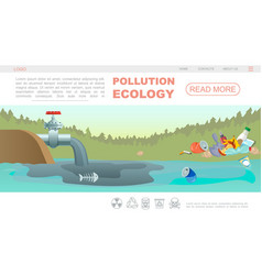 flat ecology pollution webpage concept vector image