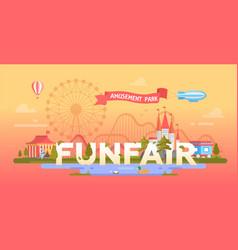 Funfair - modern banner vector