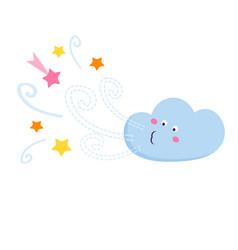 Funny cloud vector